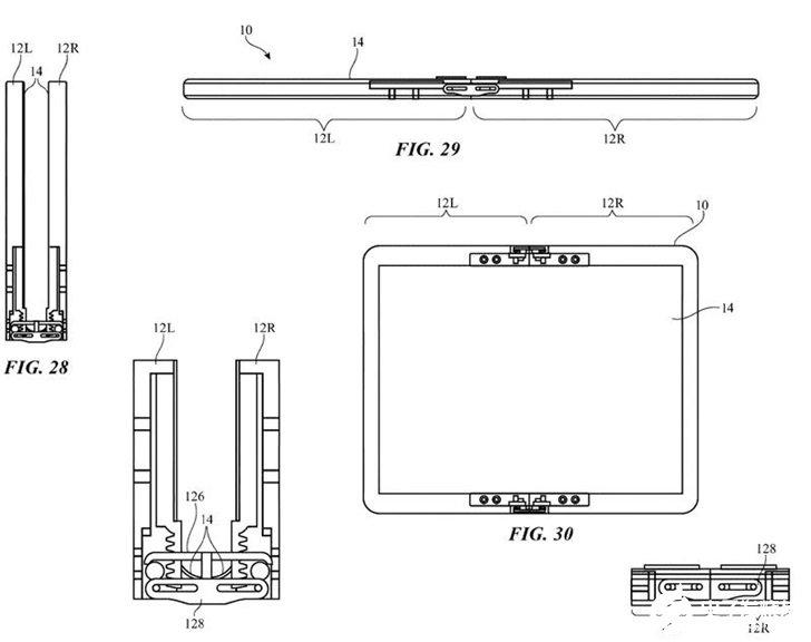 蘋果可折疊鉸鏈機制設計曝光,可避免顯示屏幕出現折痕