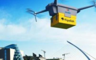 5G技术的新应用,爱尔兰Manna无人机送餐