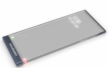 華為Mate40概念設計圖曝光采用了透明屏幕設計并支持無線充電