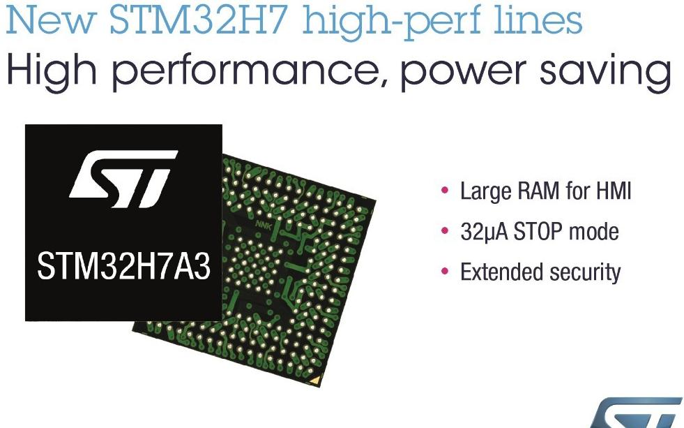 意法半导体推出STM32H7新产品线,适用于设计...