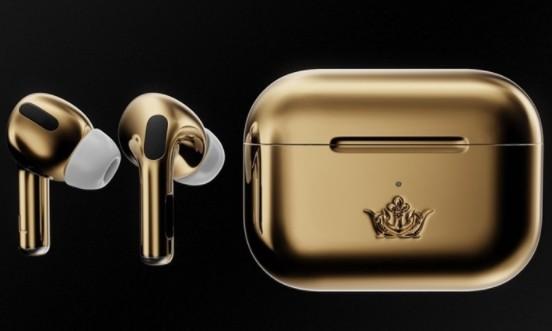 镶金苹果AirPods Pro推出,18K黄金打...