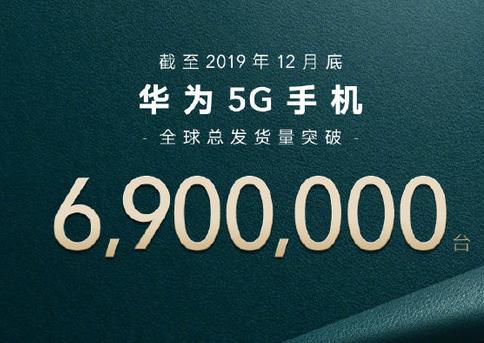 华为5G手机在2019年的全球总发货量突破了690万台