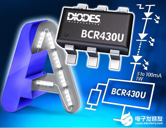 Diodes推出BCR430UW6线性LED驱动...