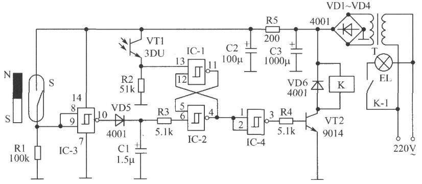基于光敏三极管构成的开关电路