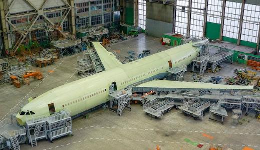 俄羅斯的首架伊爾96-400M寬體機已經進入了下一個開發階段