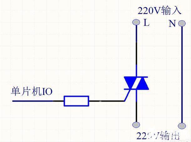 单片机控制220V交流电通断的方法