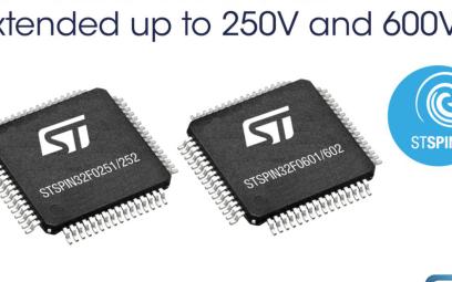 意法半导体发布面向高电压应用的新STSPIN32...