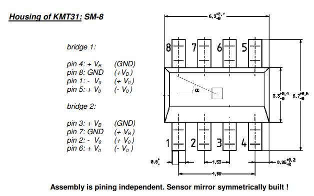 KMT31磁场传感器角度传感器的数据手册免费下载
