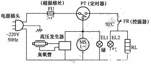 低温电子消毒柜电路图