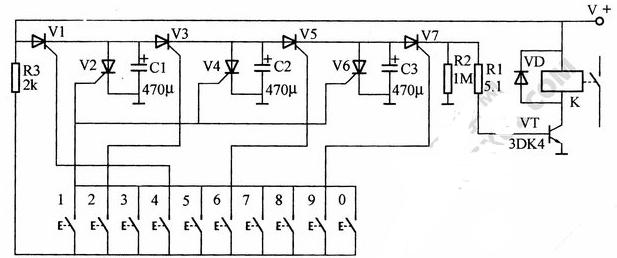 一种简单的电子密码锁电路