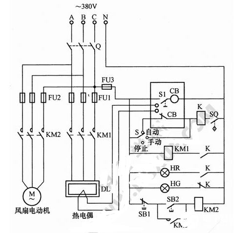 自动气体循环炉温控电路工作方式