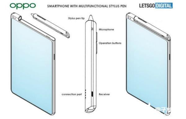 OPPO全新专利曝光 手写笔与智能手机融为一体