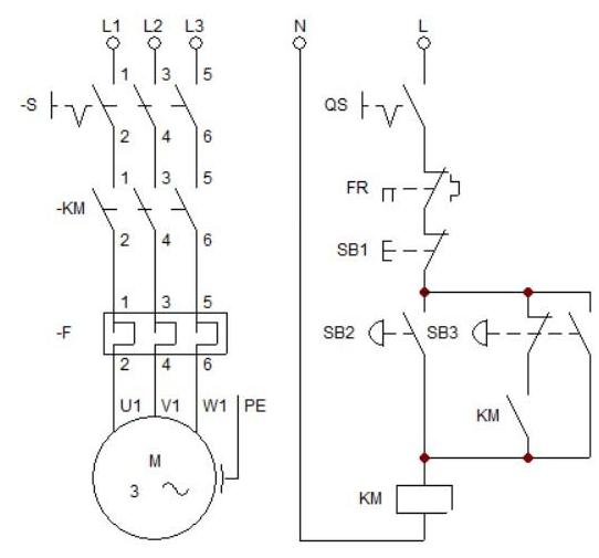 點動自鎖混合控制電路工作原理