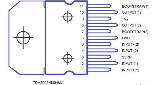 TDA2005音频功放外围电路的接法