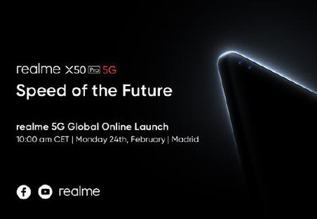 realme真我X50 Pro 5G將于2月24日發布該機搭載了驍龍865平臺