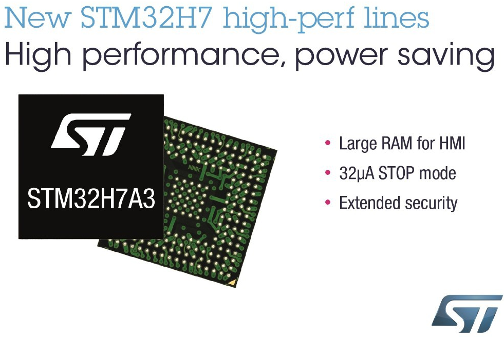 STMicroelectronics launches new STM32H7 product line