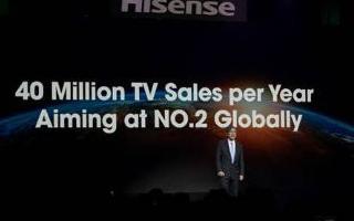 2019年海信全球电视出货量破2000万台,已经突破20%的标杆线