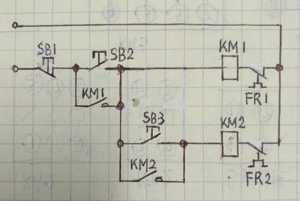 两个交流接触器顺序启动如何接线