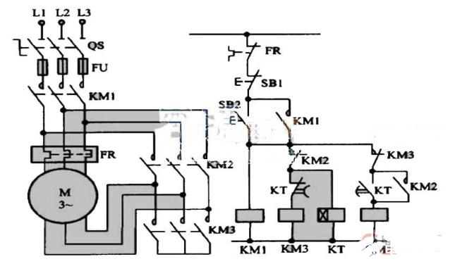 星三角启动电路的电气原理图解析