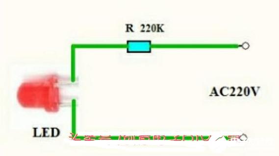 如何用发光二极管点亮220V电压