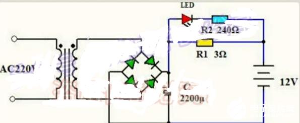 12V电瓶充电器的制作方法