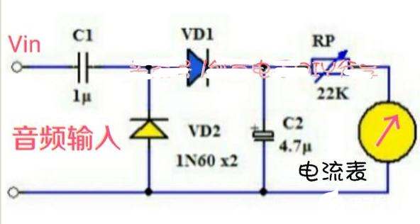 如何用电流表制作音频指示器