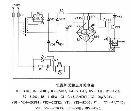 一種自動恒溫化鉛控制電路