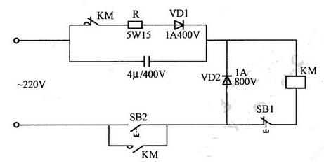 交流接触器无声运行电路图