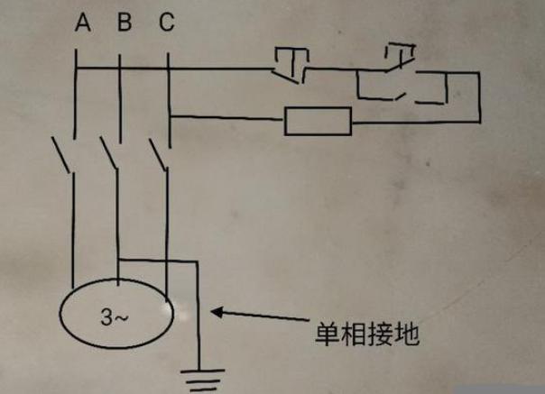 接触器吸合后一相没有电是什么原因