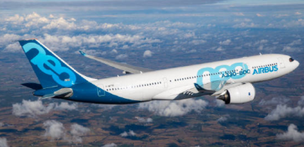 空客A330-800飛機成功獲得了美歐聯合頒發的型號合格證