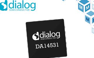 贸泽备货Dialog超小型DA14531 SmartBond TINY SoC适用于一次性医疗用品
