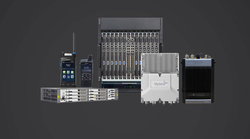 图3:海能达LTE宽带集群系统与智能对讲机。