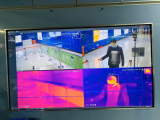 佳都科技所研发的A.I.智能体温人脸追踪监测产品