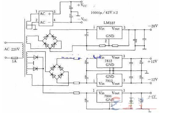 一个功放显示屏的电路原理图分析