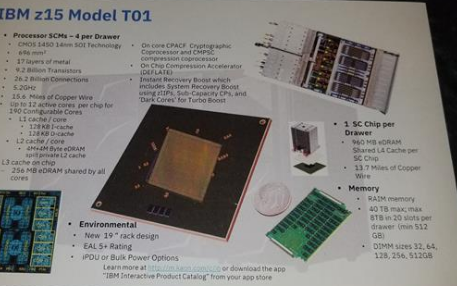 IBM大型机Z15处理器实现了12核5.2GHz