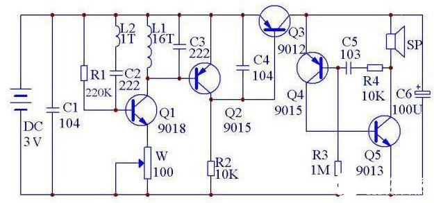 金屬探測器電路工作原理