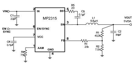 MP2315同步降压变换器的数据手册免费下载
