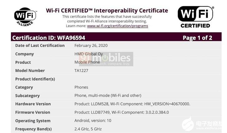 三款诺基亚新机现身认证,均支持双频Wi-Fi