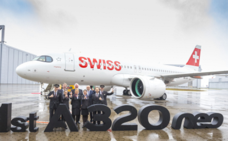瑞士國際航空迎來了首架空客A320neo飛機