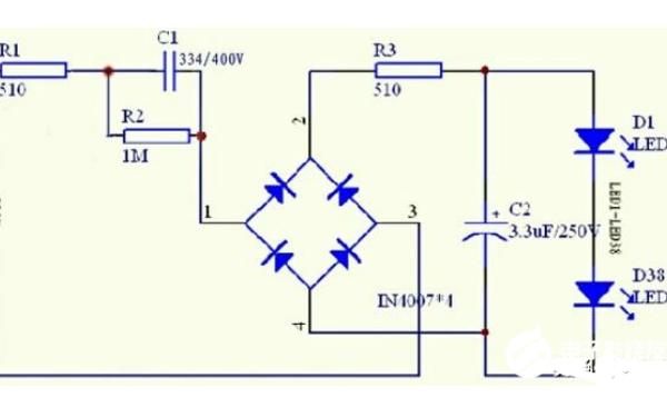 LED灯工作电路原理图详细讲解