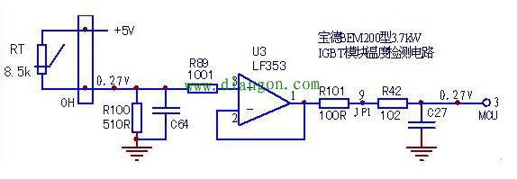 BEM200型3.7kW变频器上电报E.OH
