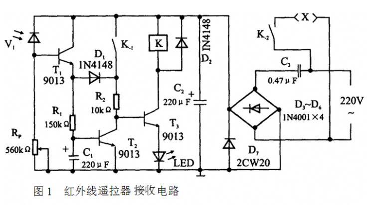 紅外接收二極管制作遙控檢測電路