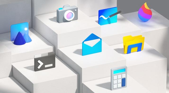 微軟Windows 10新現代流暢設計圖標推送了