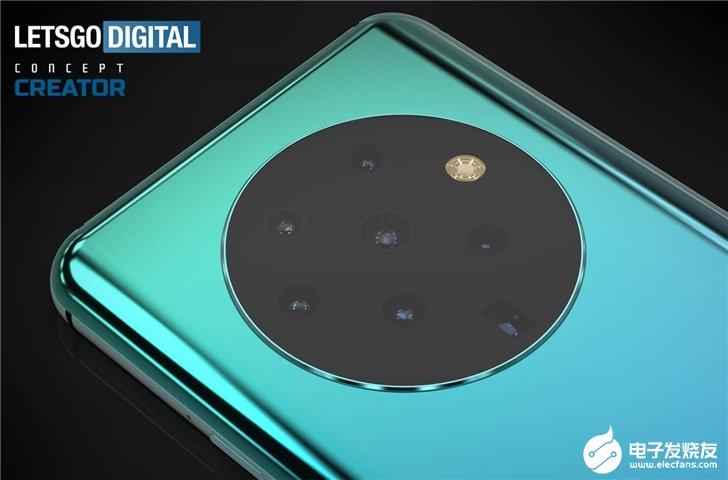 OPPO手机设计专利曝光,后置搭载7个相机镜头和1个闪光灯