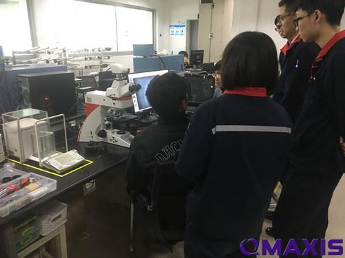 华峰氨纶徕卡显微镜DM4M演示!