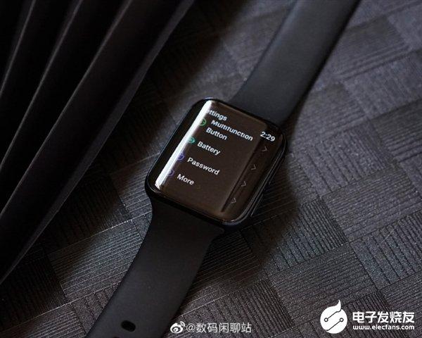 OPPO首款智能手表实拍照片曝光 双曲面屏幕满满的科技感