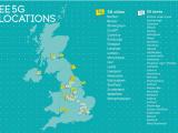 EE將5G帶到英國的六個新地點