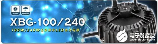 明纬推出新一代XBG系列LED驱动电源 可满足大部分天井灯及投光灯的应用