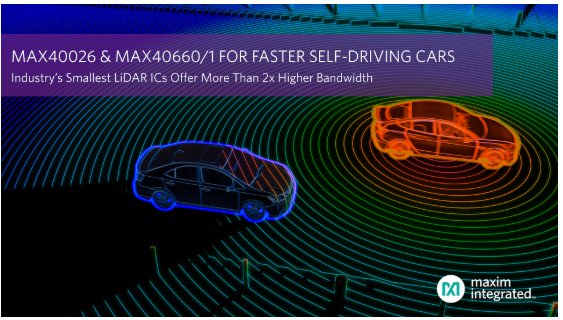 Maxim發布業界最小的LiDAR IC,加速自動駕駛汽車平臺設計