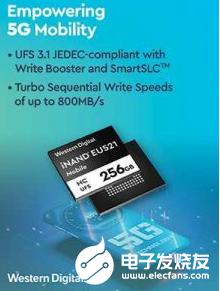 iNAND MC EU521嵌入式通用閃存 增強了5G智能手機用戶體驗
